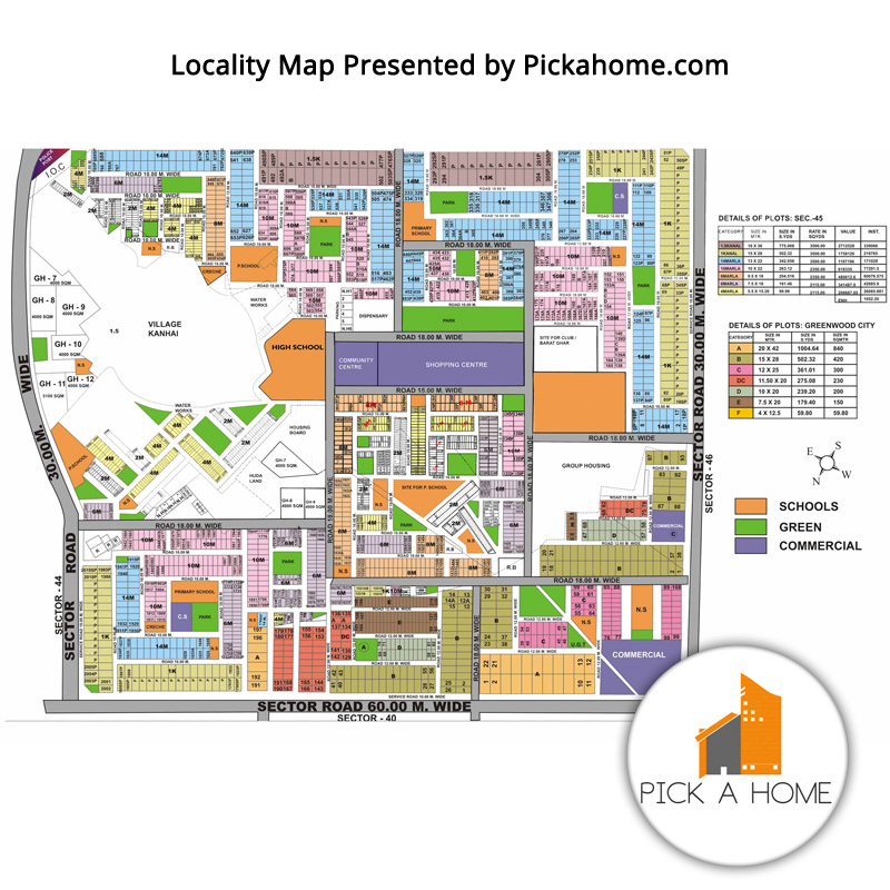 Sector 45 Locality Map