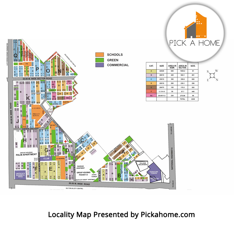 South City 1 Locality Map