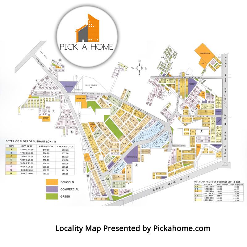 Sushant Lok 3 Locality Map