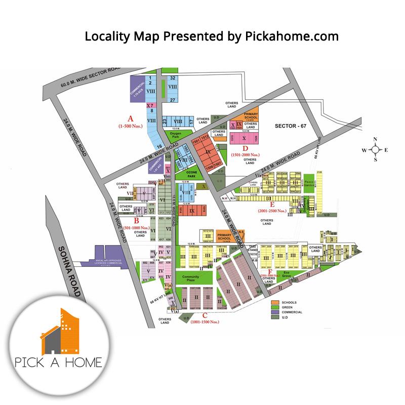 Sushant Lok 4 Locality Map
